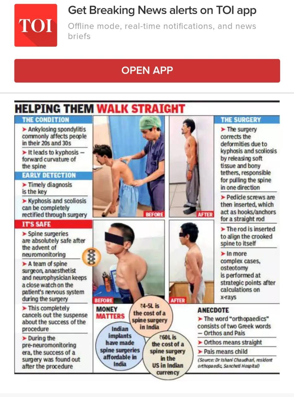 Helping People Walk Straight|Dr. Ajay Kothari|Dr. Ajay Kothari|Shivaji Nagar,Pune