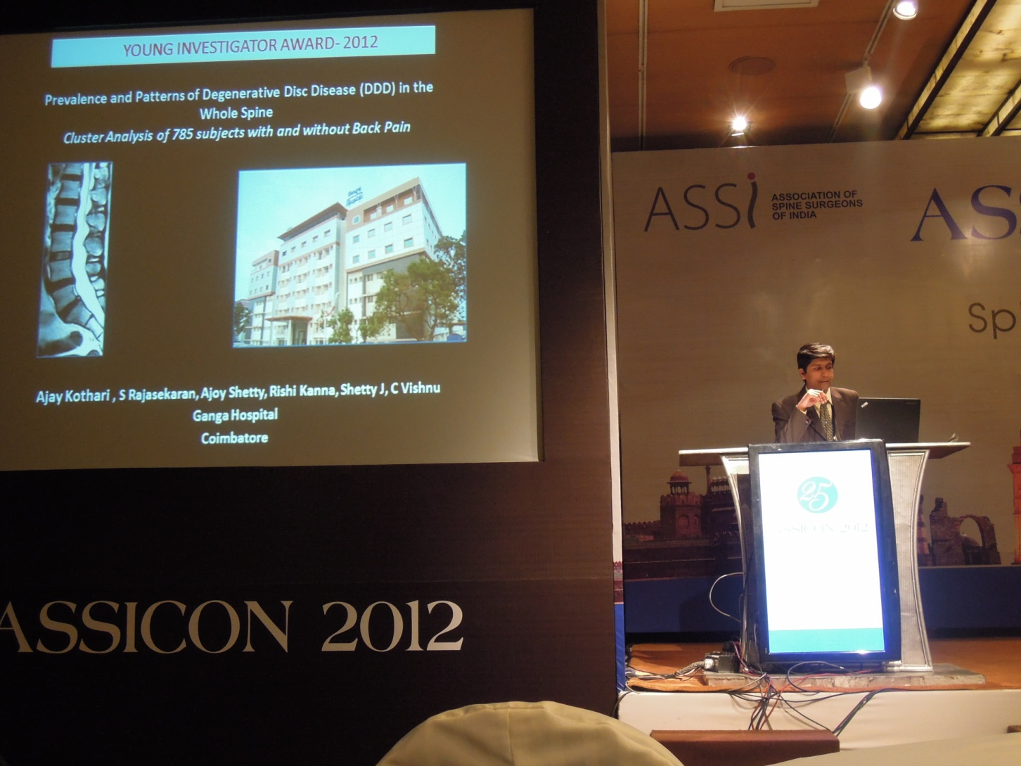 Young Investigator Award 2012 New Delhi at ASSICON 2012|Dr. Ajay Kothari|Shivaji Nagar,Pune