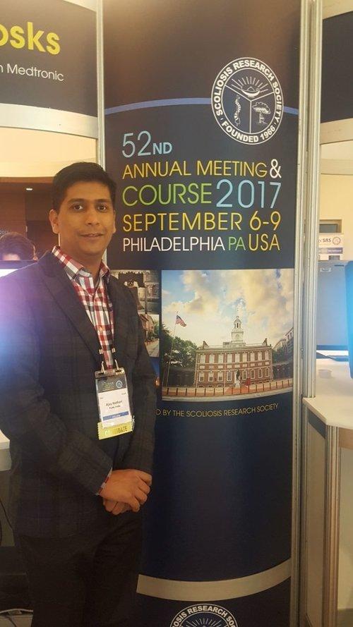 Dr. Ajay Kothari Scoliosis research society meeting in Philadelphia USA.|Dr. Ajay Kothari|Shivaji Nagar,Pune